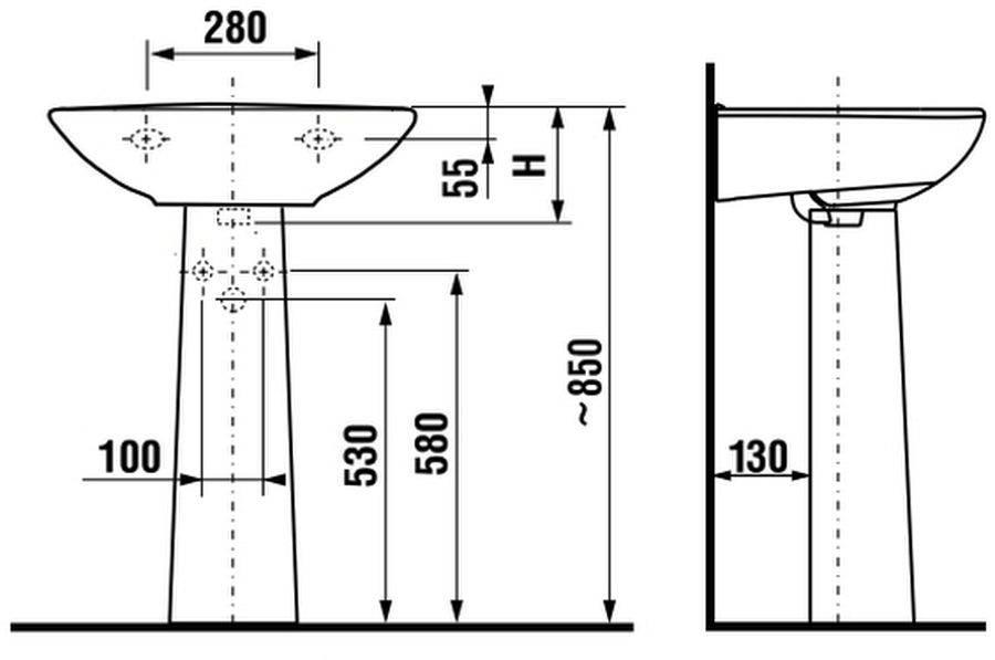Как установить раковину в ванной с пьедесталом, над стиральной машиной или в столешницу самостоятельно