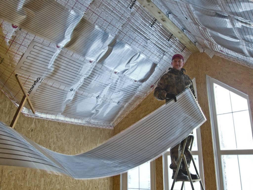 Пленочные инфракрасные обогреватели потолочные - всё об отоплении и кондиционировании