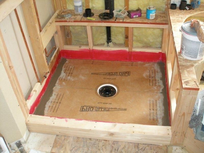 Как сделать душевую без поддона со сливом в полу: пошаговая инструкция с фото