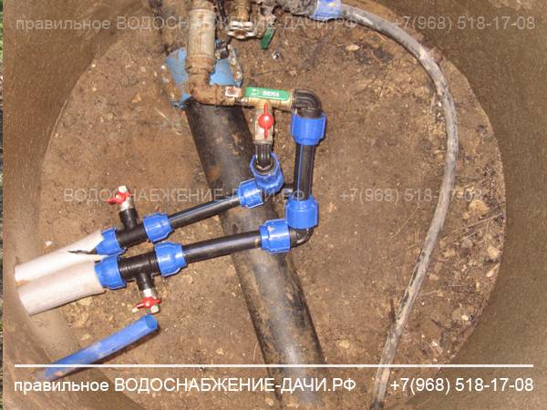 Летний водопровод на даче своими руками - как сделать из труб пнд, схема и монтаж, инструкция
