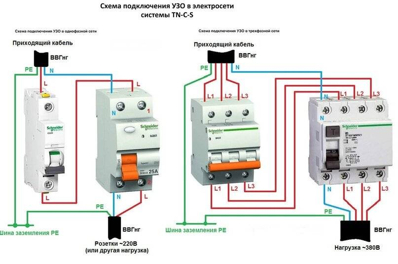 Узо для водонагревателя. как подключить устройство защитного отключения