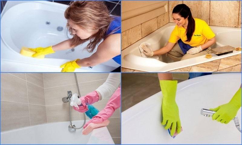 Чем чистить акриловую ванну в домашних условиях: как мыть и осуществлять уход