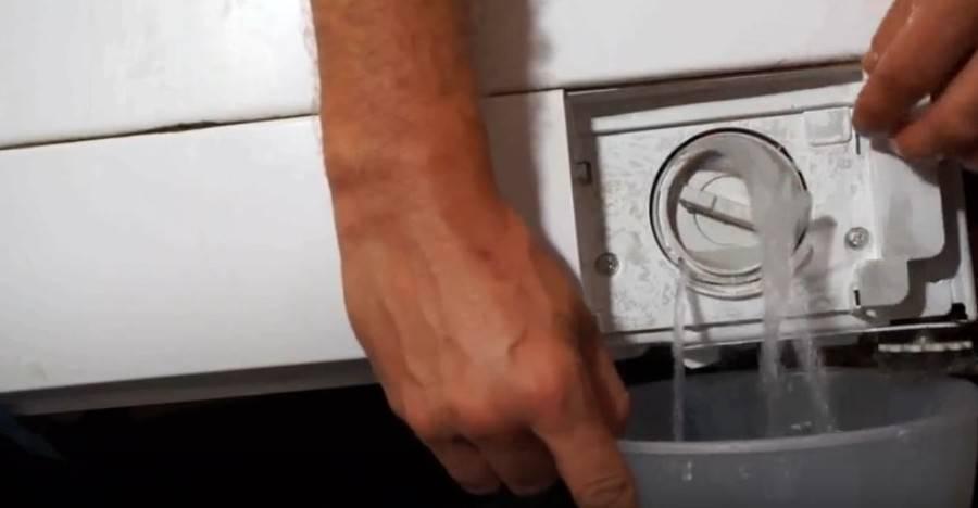 Как принудительно слить воду из стиральной машины. пошаговая инструкция