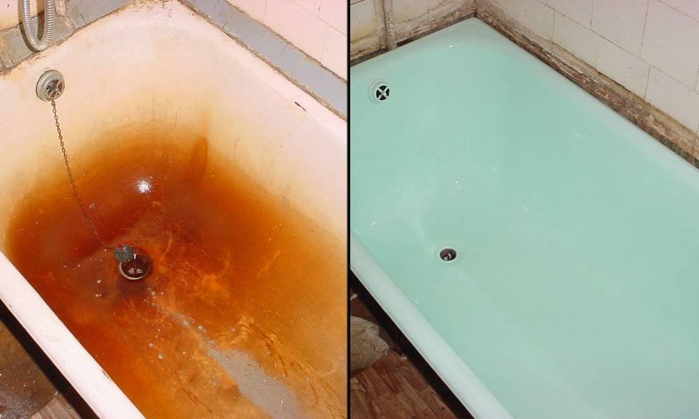 Восстановление покрытия чугунной ванны: способы, пошаговые инструкции