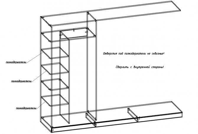 Как сделать встраиваемый шкаф в прихожей самому: пошаговая инструкция расчета и изготовления встроенной в стену мебели своими руками, фото с примерами
