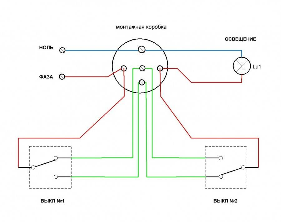 Как правильно сделать проходной выключатель света своими руками