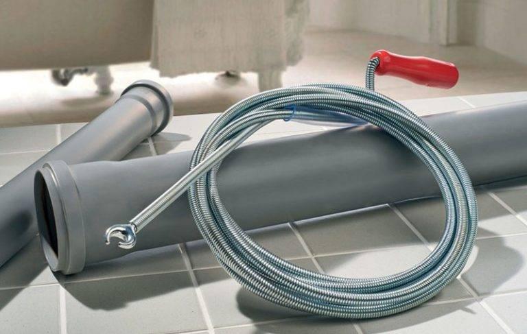 Трос для прочистки канализационных труб: виды, использование