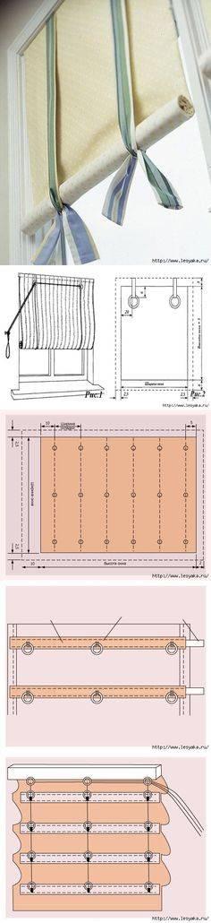 Рулонные шторы своими руками: на пластиковое окно, пошаговая инструкция
