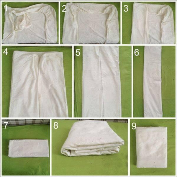 7 способов аккуратно сложить покрывало с кровати на ночь