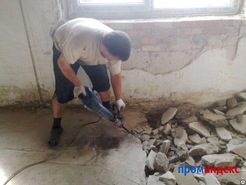 Демонтаж стяжки - эффективные способы и подробная инструкция!