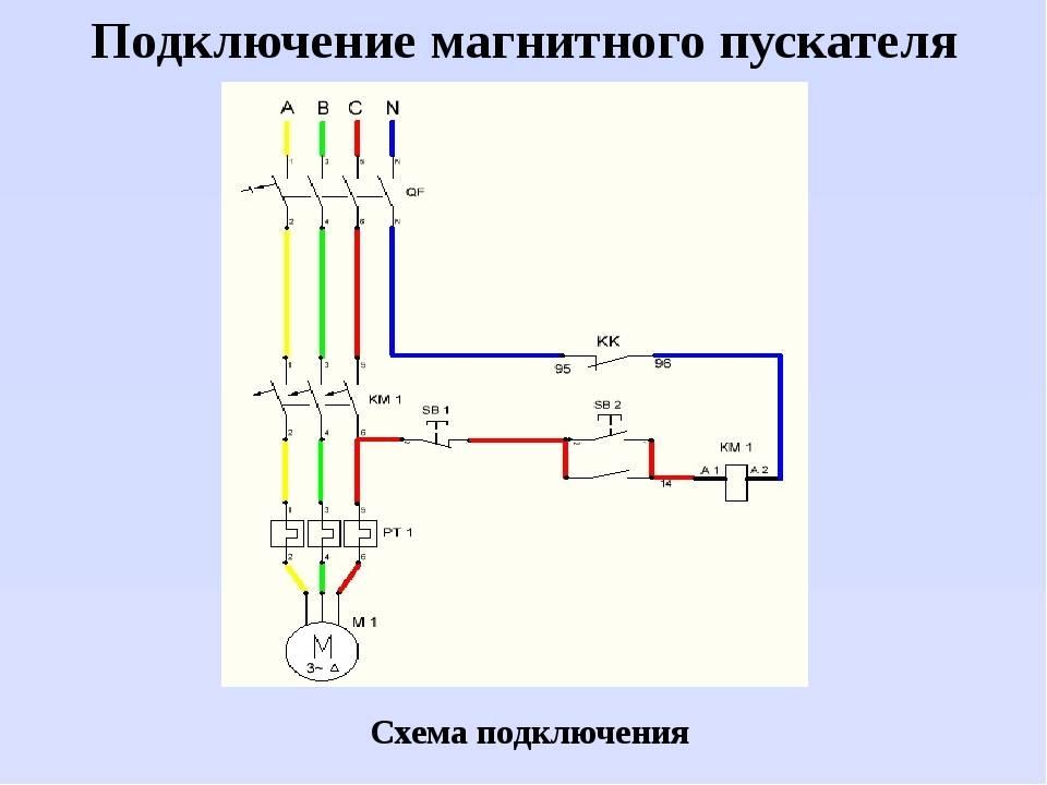 Магнитный пускатель 380в схема подключения - всё о электрике