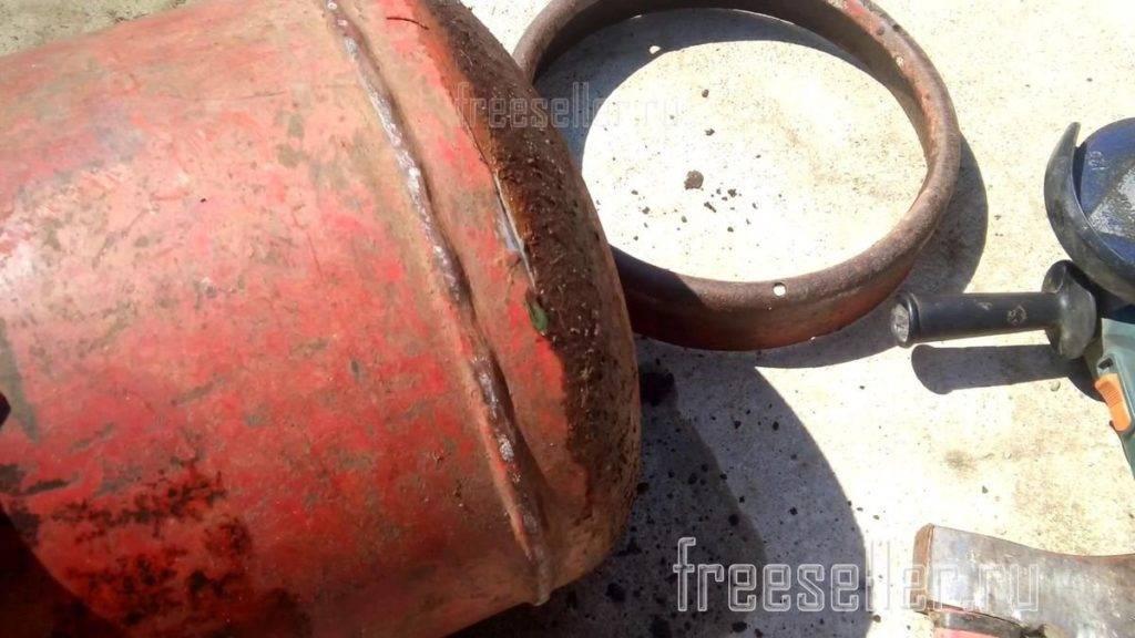 Как разрезать газовый баллон болгаркой