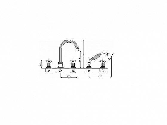 Установка смесителя в ванной: вариант с монтажом на бортик
