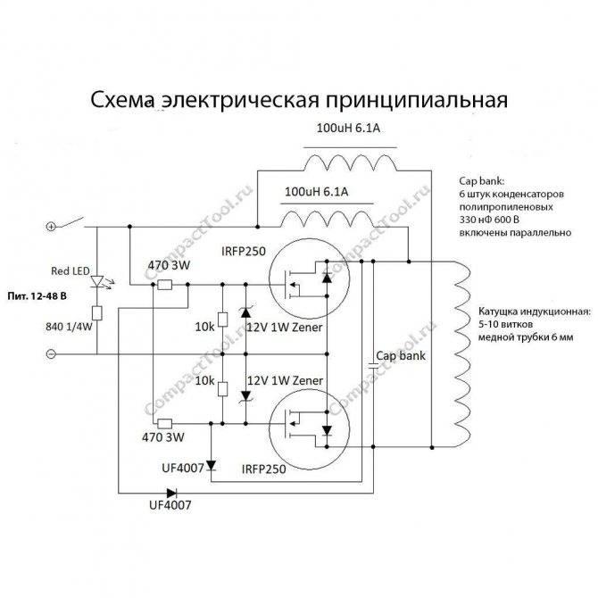 Как самому сделать индукционный нагреватель из сварочного инвертора