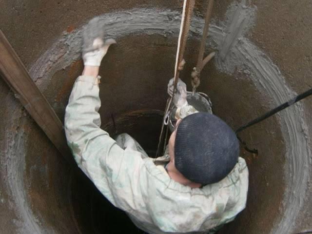 Чем замазать трубу на входе в колодец. герметизация колодезных колец разными способами