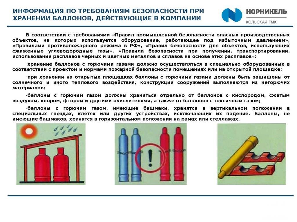 Правила заправки бытовых газовых баллонов — пожарная безопасность