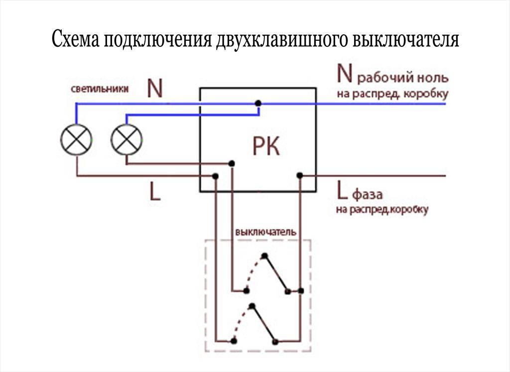 Порядок и схема подключения люстры к двойному выключателю. как подключить люстру к выключателю