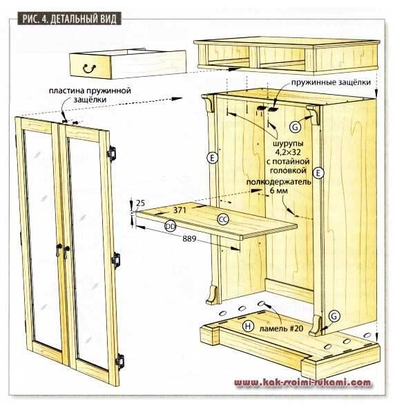 Пошаговые инструкции по изготовлению своими руками шкафов из дсп, мдф
