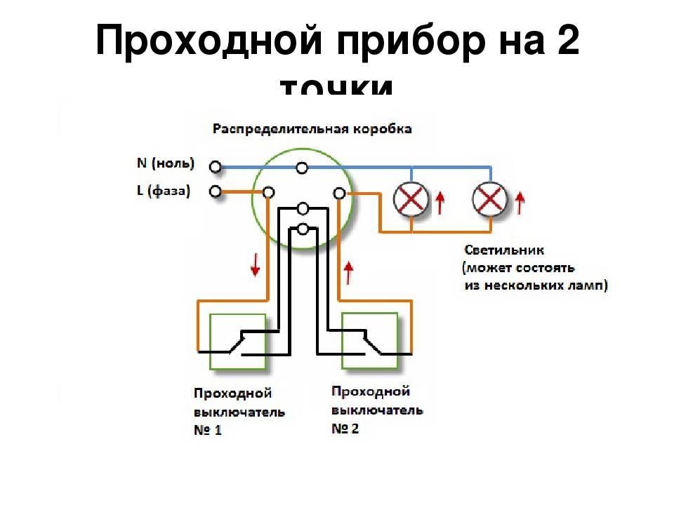 Выключатель проходной – что это такое, схемы подключения, принцип работы