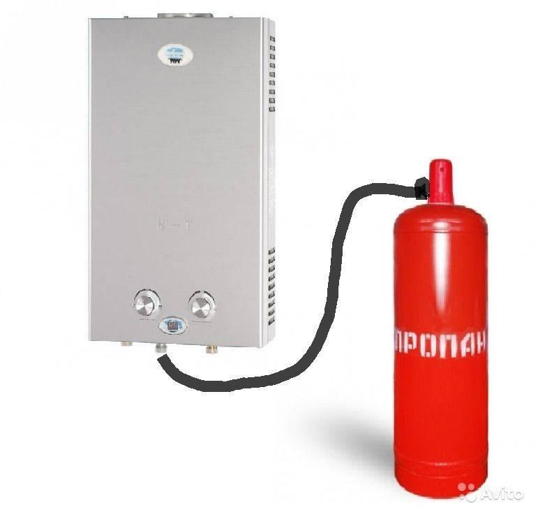 Газовая колонка на сжиженном (баллонном) газе — расход, требования, выбор