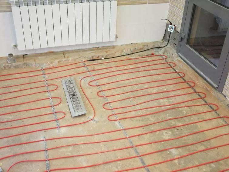 Монтаж электрического теплого пола своими руками: схема укладки, подключение и установка
