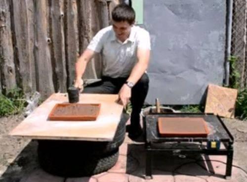 Изготовление вибростола для тротуарной плитки своими руками, его назначение, правила конструирования
