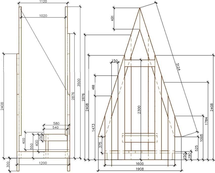 Дачный туалет своими руками: инструкция, чертежи с размерами и видео