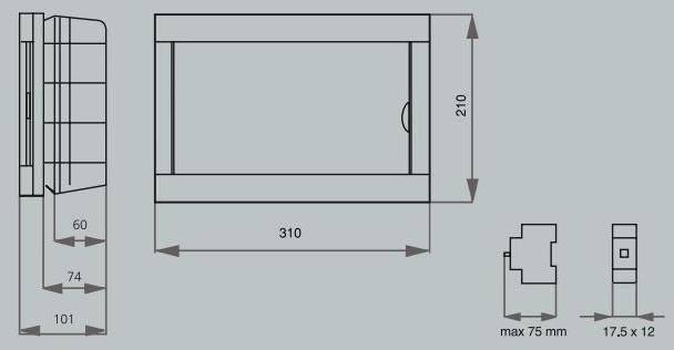 Распределительный щиток для автоматов и электросчётчика
