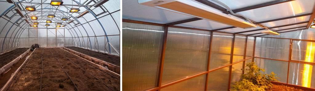Инфракрасные обогреватели с терморегулятором для теплицы из поликарбоната