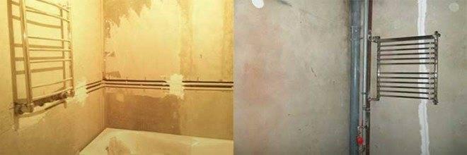 Перенос полотенцесушителя на другую стену: этапы проведения работ