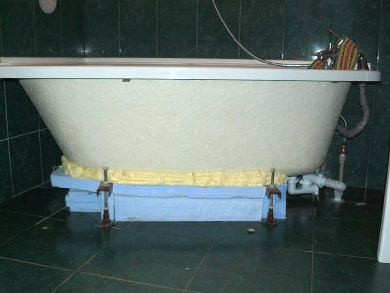 Установка акриловой ванны на ножки