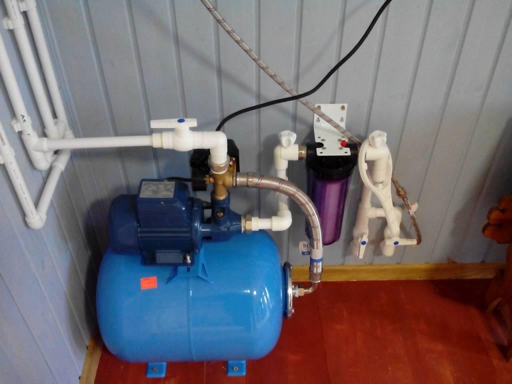 Подключение станции водоснабжения: схемы для колодца, скважины и емкости