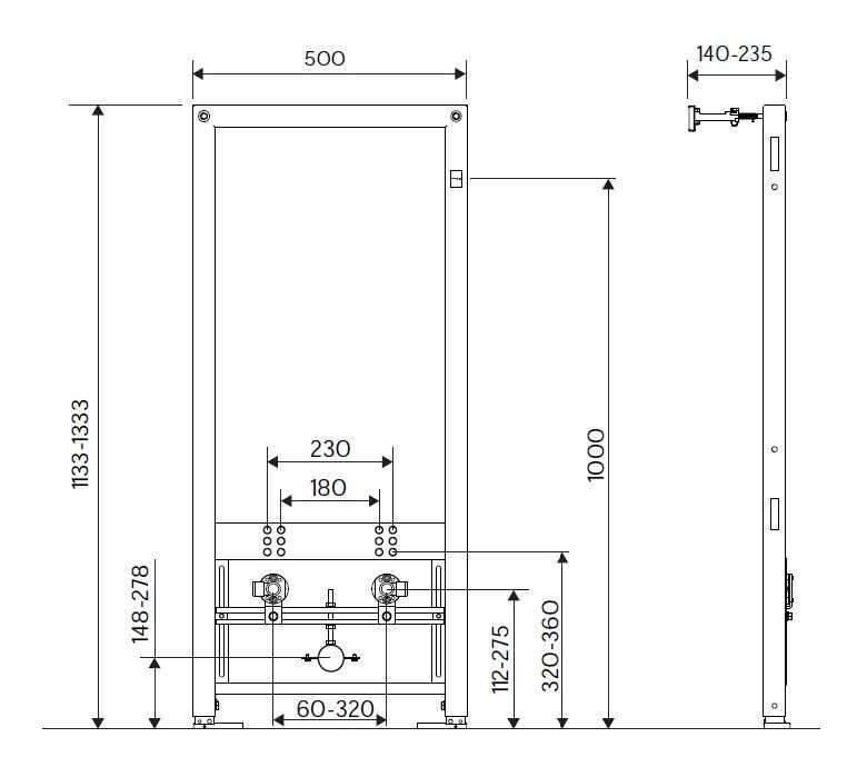 Биде подвесное встраиваемое в комплекте с унитазом, установка настенной инсталяции