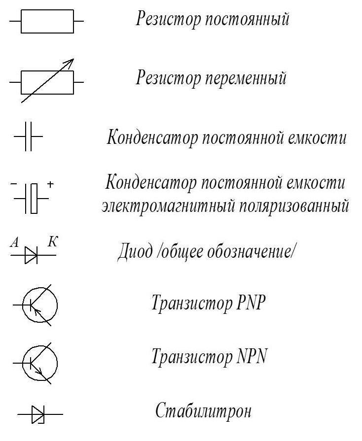 Символы электрических схем автомобилей | автомобильный справочник