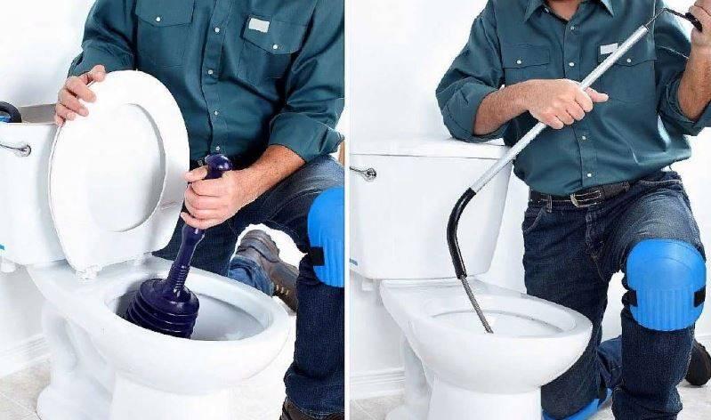 Как прочистить засор унитаза в домашних условиях