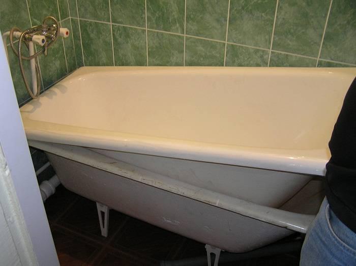 Установка чугунной ванны своими руками: советы по заносу, монтажу